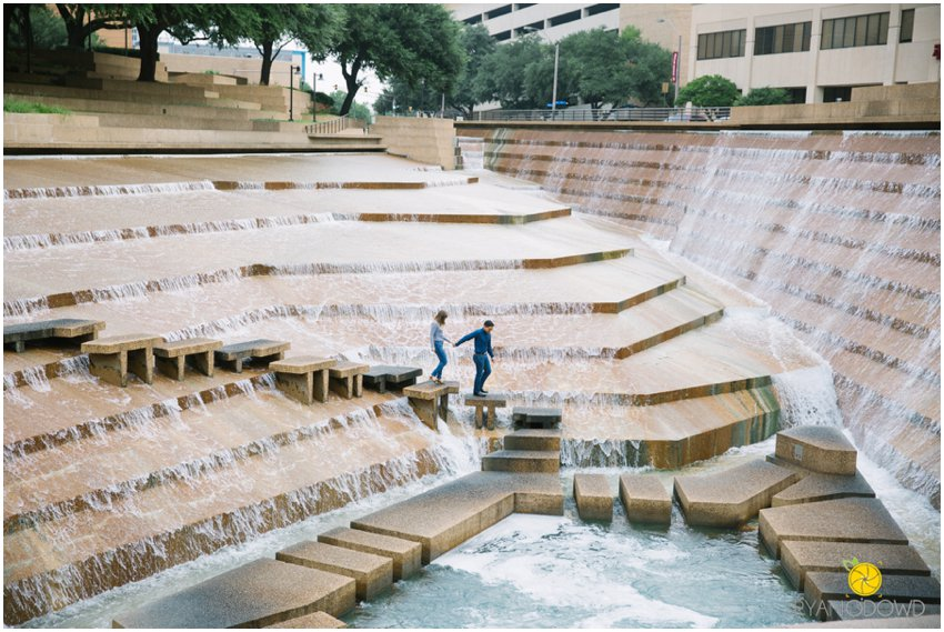Urban engagement shoot fort worth water gardens texas - Fort worth water gardens wedding ...